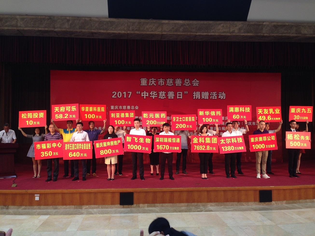中华慈善突出贡献奖_社会公益 重庆市中科控股有限公司